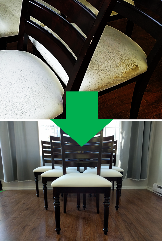 Dining room chair reupholstery