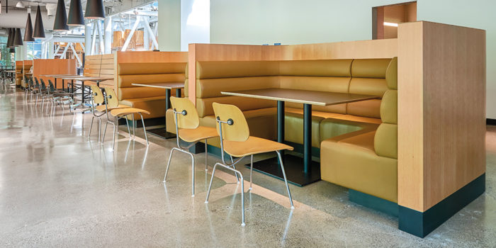 United Upholstery custom leather booth upholstery for restaurant in Vancouver and Burnaby