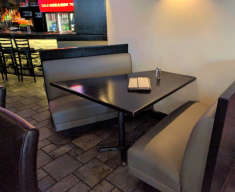 Pub Booths Reupholstered by United Upholstery