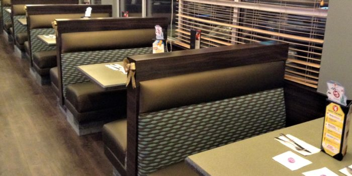 Diner Booths Reupholstered by United Upholstery