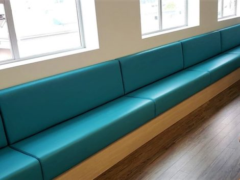 Custom Banquette Upholstered by United Upholstery
