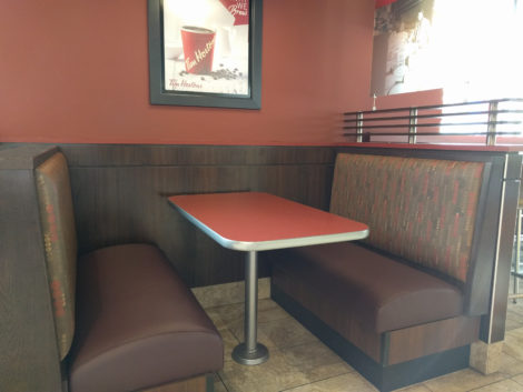 Restaurant, bar, and coffee shop booths, banquettes, and benches reupholstered by United Upholstery