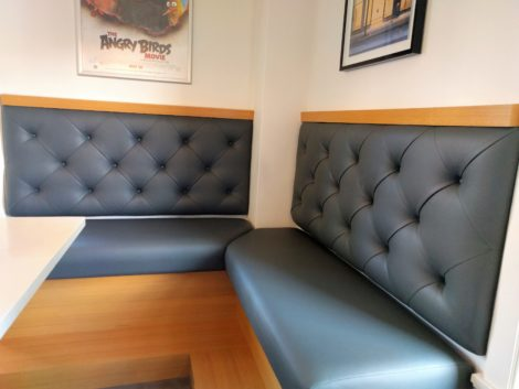 Restaurant and Bar Booth and Banquettes with Tufted Back Upholstered, Reupholstered, and Recovered by United Upholstery