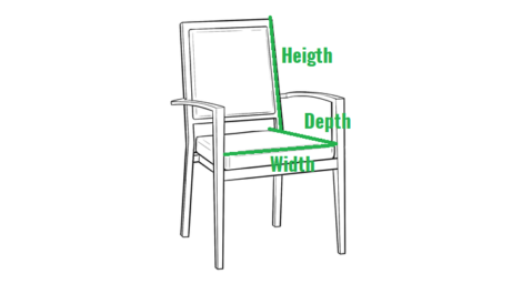 How to measure a dining chair or stool